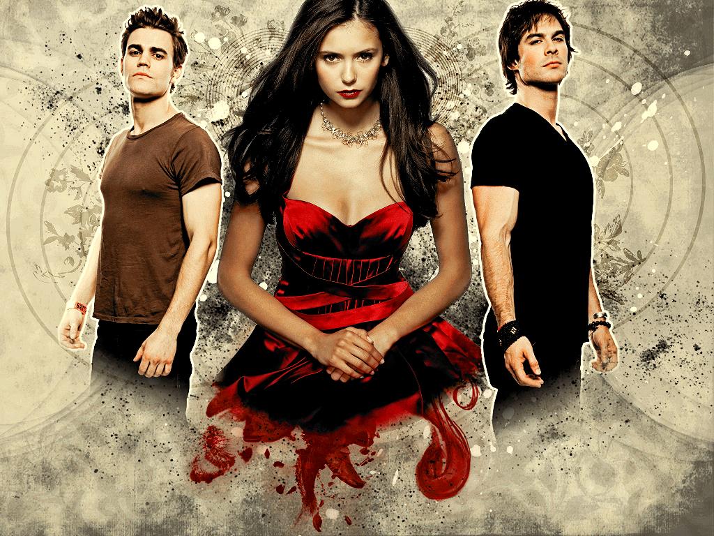 Wallpaper TVD Damon Elena Stefan  Sucker For Vampires